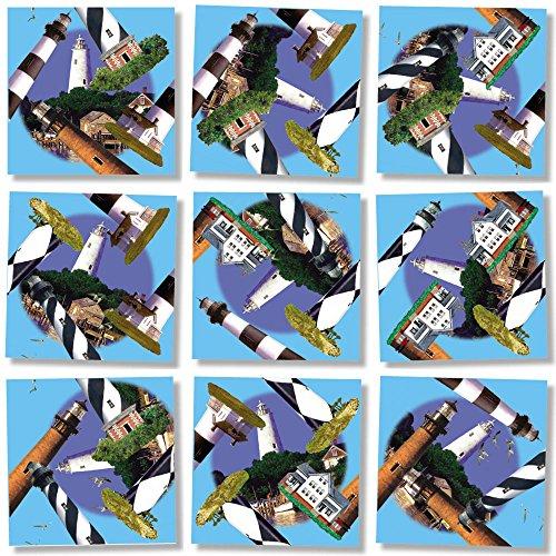 Square Nine (B Dazzle Outer Banks' Lighthouses Scramble Squares 9 Piece Puzzle)
