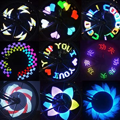 Docooler® Colorful Rainbow 32 LED Wheel Signal Lights for Bikes Bicycles