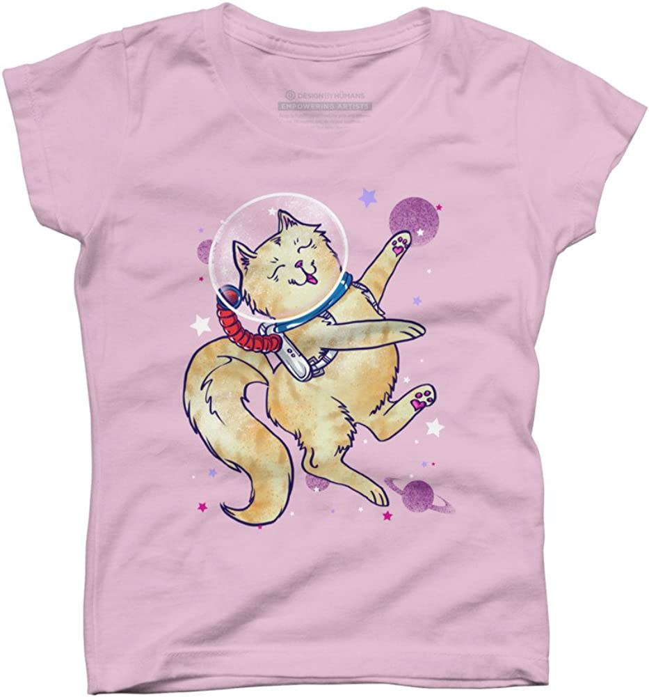 Cos-MEOW-Naut Girls Youth Graphic T Shirt Design By Humans