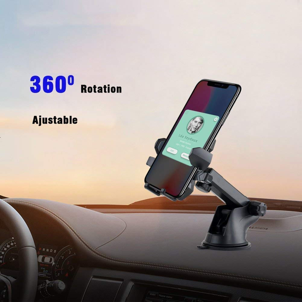 Car Phone Mount,Universal Washable Dashboard Cell Phone Holder with One-Touch Design Air Vent Car Phone Holder Compatible for iPhone 6 6plus 7 7plus 8 8plus X Samsung Galaxy S9 S8 More by pipigo