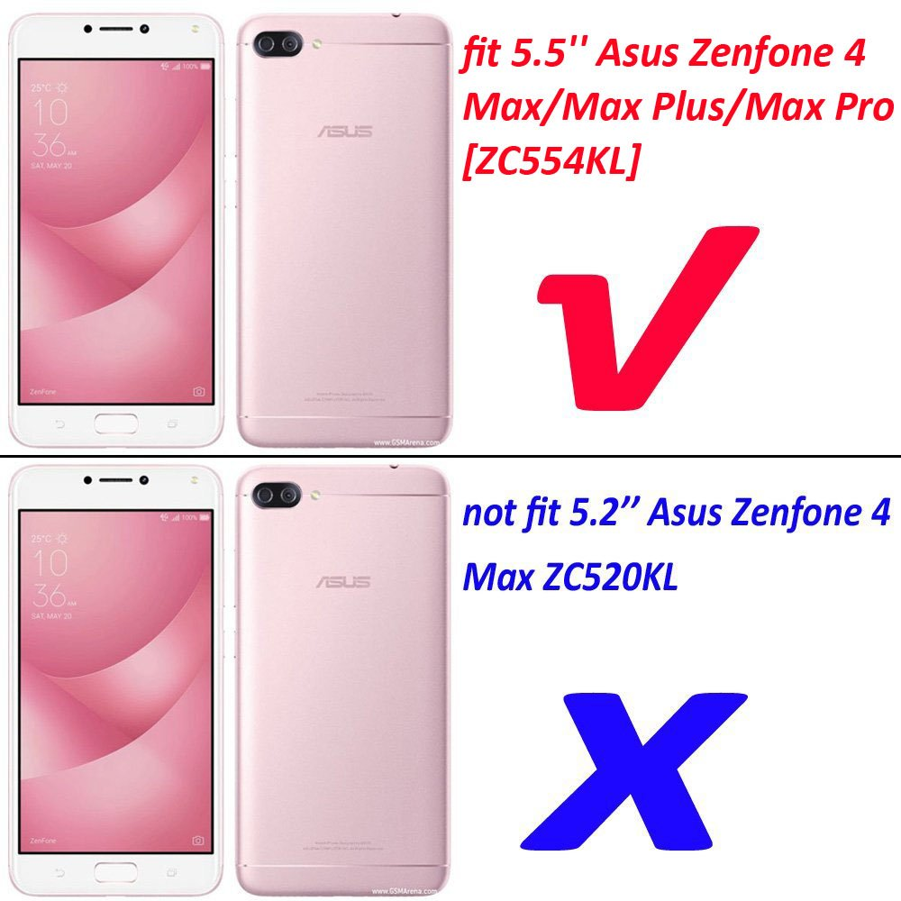 Asus Zenfone 4 Max Pro Zc554kl Hybrid Case Shockproof Dual Layer Rugged Hard Shell Cover With
