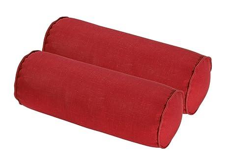 Amazon.com: bossima interior/exterior Ronda Bolster almohada ...