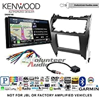 Volunteer Audio Kenwood DNX874S Double Din Radio Install Kit with GPS Navigation Apple CarPlay Android Auto Fits 2012-2013 Non Amplified Toyota Camry
