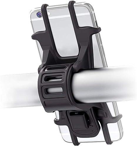 Pritech - Soporte Móvil Bicicleta, Soporte Universal Manillar de Silicona para Bicicleta de montaña y Motocicleta, Compatible para Todos Smartphones de 4.5 a 6.0 Pulgadas. PBP-334: Amazon.es: Electrónica
