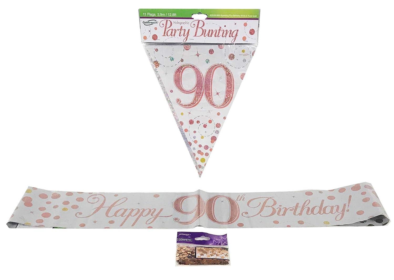65th Birthday Decoration Kit Banner Bunting Confetti Men/'s Party Decor