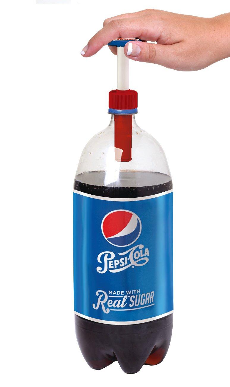 Jokari 18010P3 3 Count Pepsi Heritage Logo Fizz Keeper Soda Bottle Pump Cap, Red/White/Blue by Jokari (Image #2)