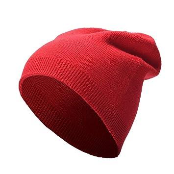 1fe7ee8bb YXDDG Gorro Beanie Moderno Casual Gran tamaño Holgado Slouchy Grueso Largo  Gran tamaño Beanie,Brazalete para Las Mujeres de los Hombres-Rojo:  Amazon.es: ...