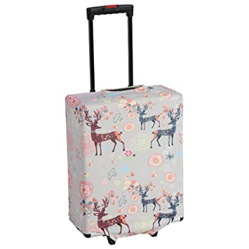 Funda para equipaje de viaje, tejido elástico de dibujos animados, maleta antiarañazos, a prueba de polvo, funda protectora: Amazon.es: Bricolaje y ...