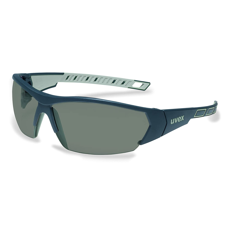 uvex i-works Schutzbrille 9194 - Kratzfest & Beschlagfrei, 100% UV-400-Schutz - Sicherheitsbrille mit Getönter Scheibe - Arbeitsbrille mit Antibeschlag- und Antikratz-Beschichtung - mit Mikrofaser-Beutel 919427