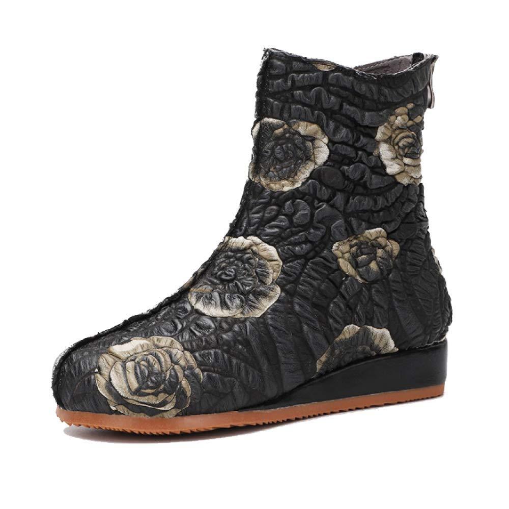 ZPEDY Chaussures pour Chaussures Femmes, Chaussons, éclair Vintage, Confort, 15828 Personnalité, Mode, Fermeture éclair Black 4eb5d35 - latesttechnology.space