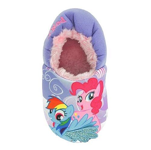122cf28921e2 Girls My Little Pony Lilac Faux Fur Lined Slippers Kids UK Infant Sizes 6  Purple
