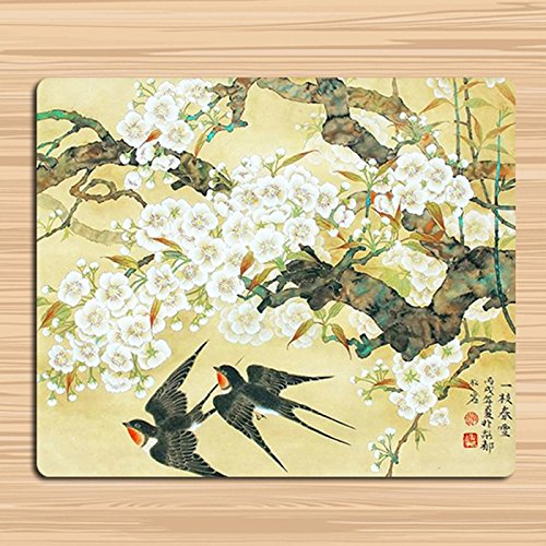 JINHONG Retro Chinese wind and wind painting flower bird lotus art mouse pad classical ink painting 11.8