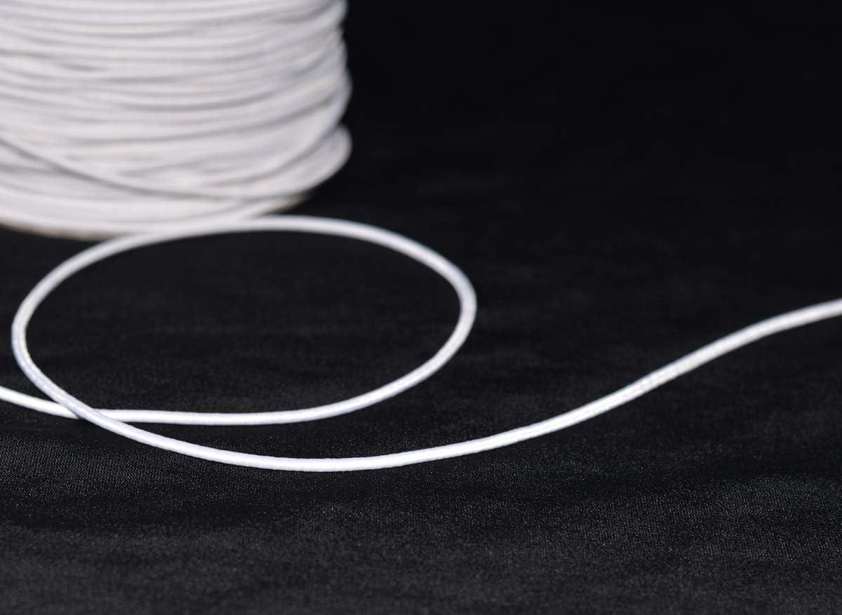 1//2 pouces 12 mm Bonne Qualité Élastique Blanc 150 Mètres Full Roll Le Moins Cher Sur