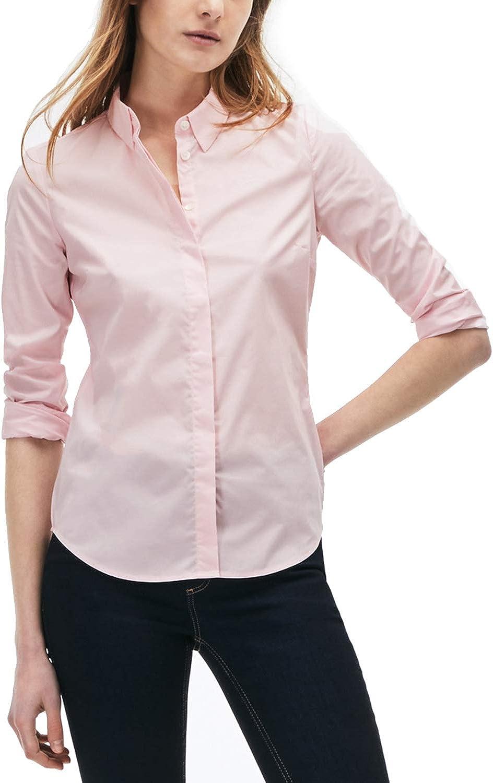 Lacoste - Camisas - para Mujer Rosa T03 Flamant XXX-Large: Amazon.es: Ropa y accesorios