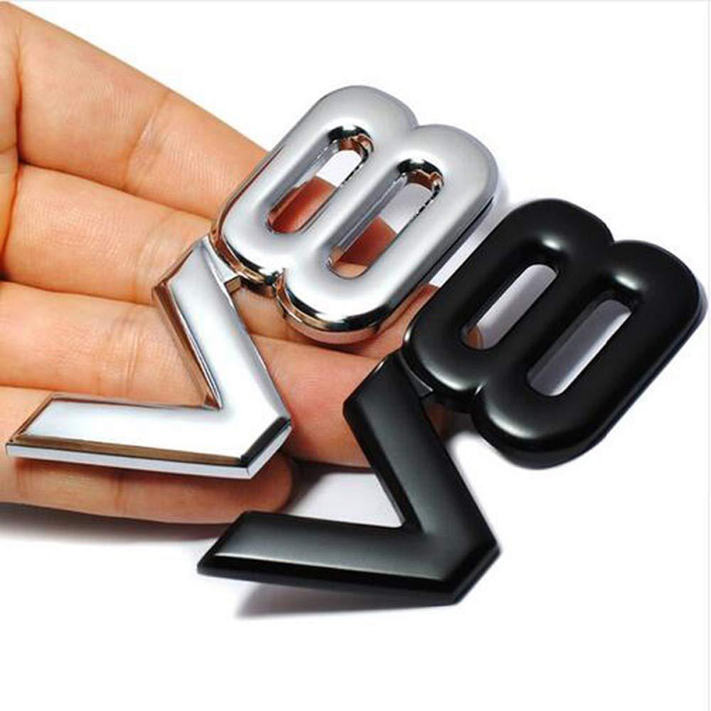 1 Unids 3D V8 Logotipo del Coche Emblema de Metal Etiqueta Engomada de la Insignia Del Cuerpo Del Coche Para