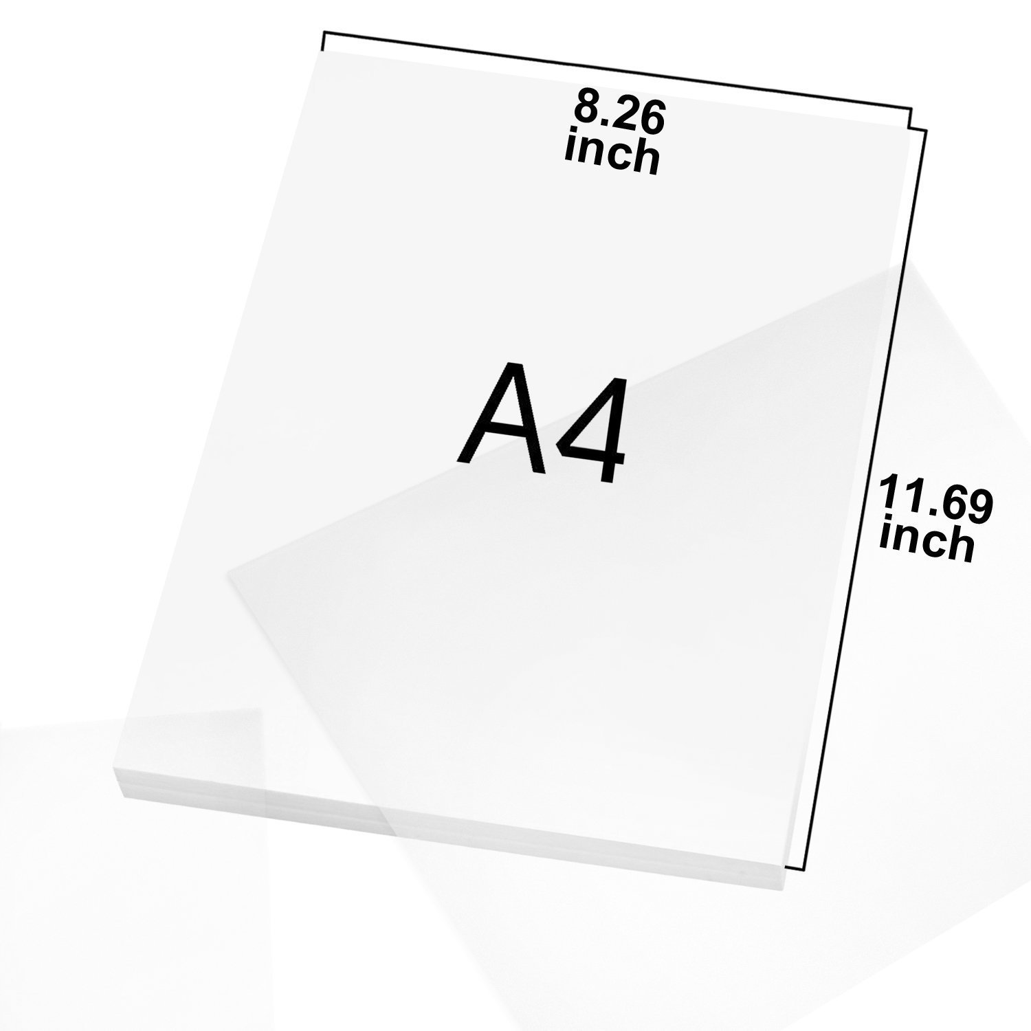 100 Sheets #1 Tracing Paper ,Natural Transparent Trace Paper A4 100 GSM for Architecture//Design//Graphic Laser /& Inkjet Printers