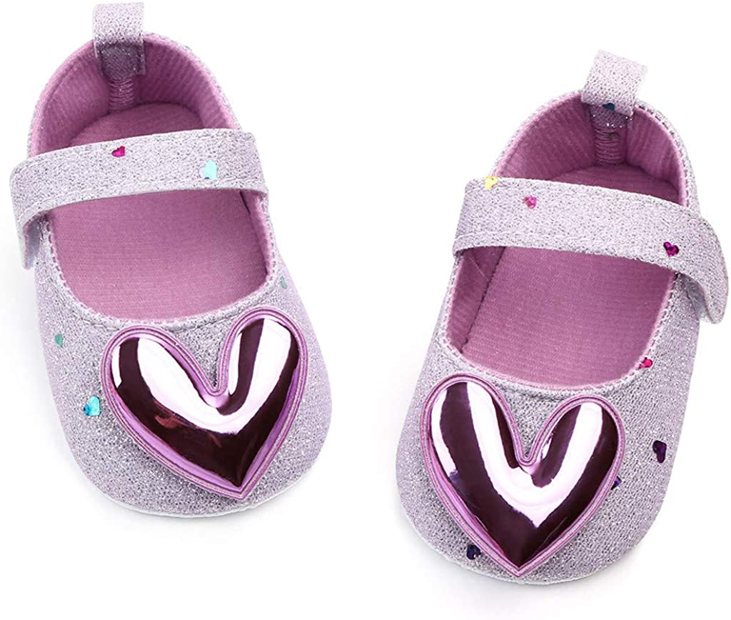 Toddler Shoes Love Indoor Soft Bottom Princess Shoes T7895 Baby Shoes with Soft Sole