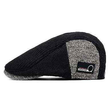 YLUMIN Tapa Plana Hat. Boina para Hombre Hombre Hiedra Gorra ...