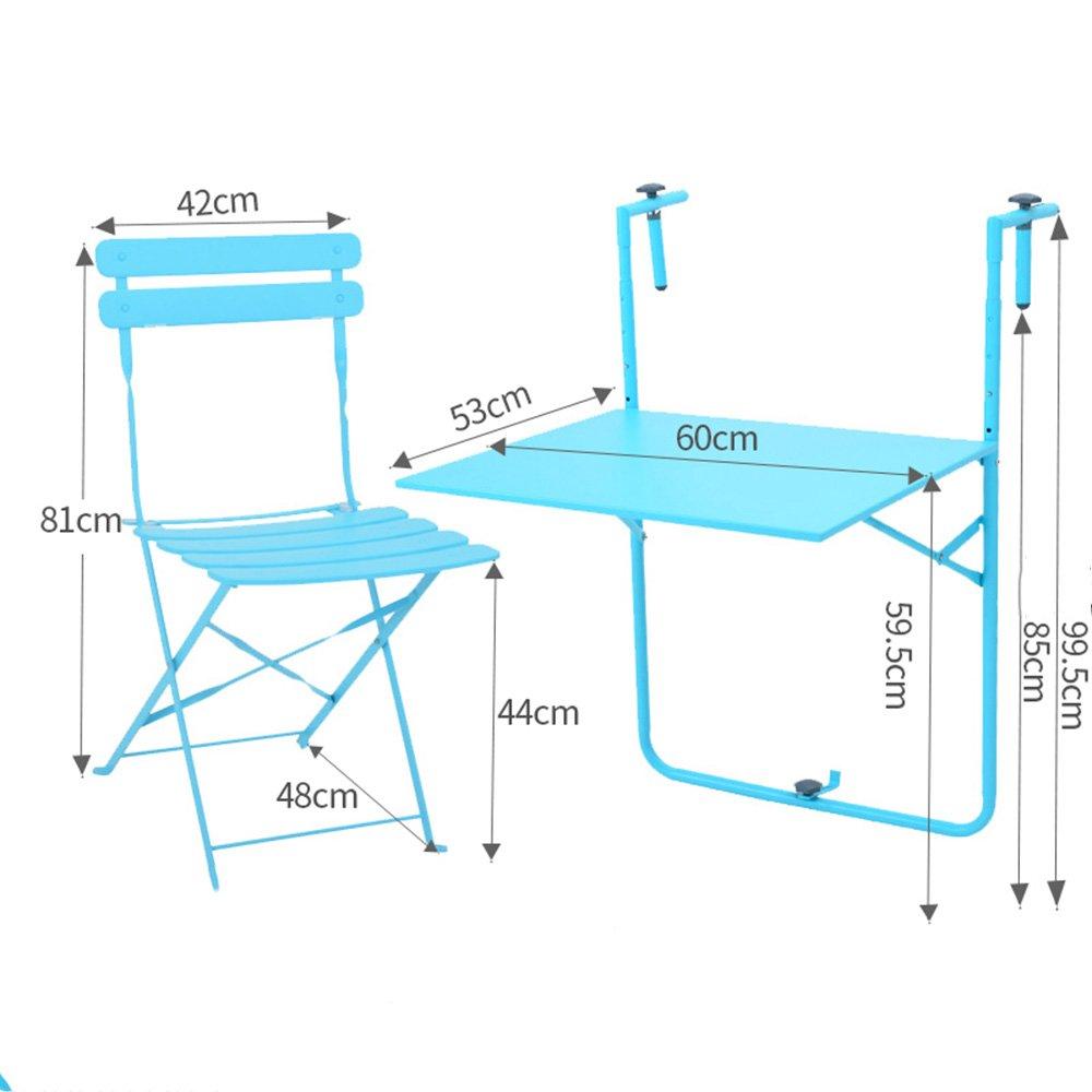 CAICOLOUR - Mesa de balcón y sillas Plegables para Colgar en ...