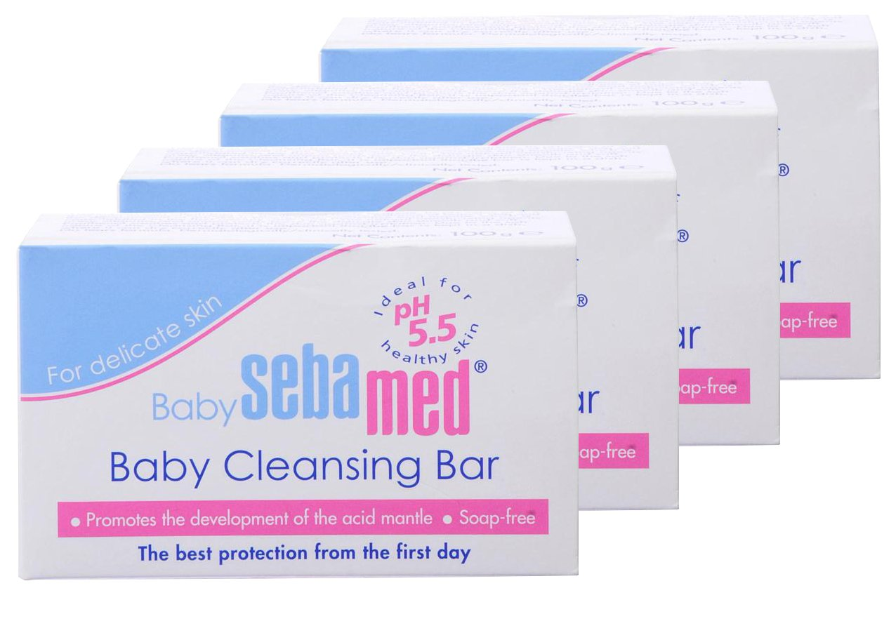 Sebamed Baby Cleansing Bar, 3.5-Ounce Boxes (Pack of 4)