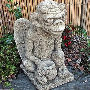 Stone Gatekeeper Dragon Gargoyle Garden Ornament Pot Frost Proof New English Character Of