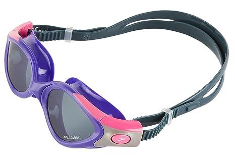 b5b93a4d856 Speedo Women s Futura Biofuse Polarised Swimming Goggles Smoke One Size  Purple