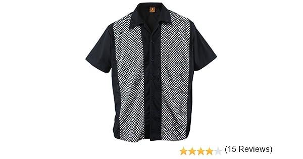 Camisa para hombre, diseño a cuadros, color negro negro y blanco ...