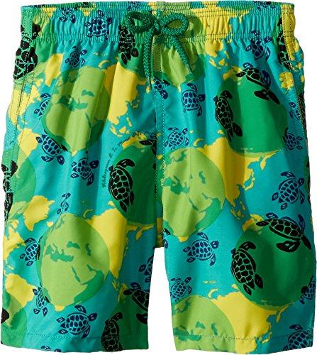 Vilebrequin Kids Boy's Mappemonde Dots Swim Trunk (Big Kids) Green 12 Years by Vilebrequin Kids