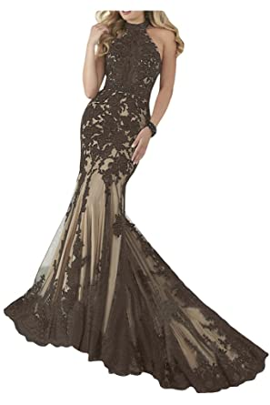 1a573fe68b1d13 Sunvary Romantisch Neu 2014 Spitze Mermaid Traeger Abendkleid Ballkleider:  Amazon.de: Bekleidung