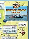 Newport Harbor & Upper Newport Bay California Franko Maps Waterproof Map