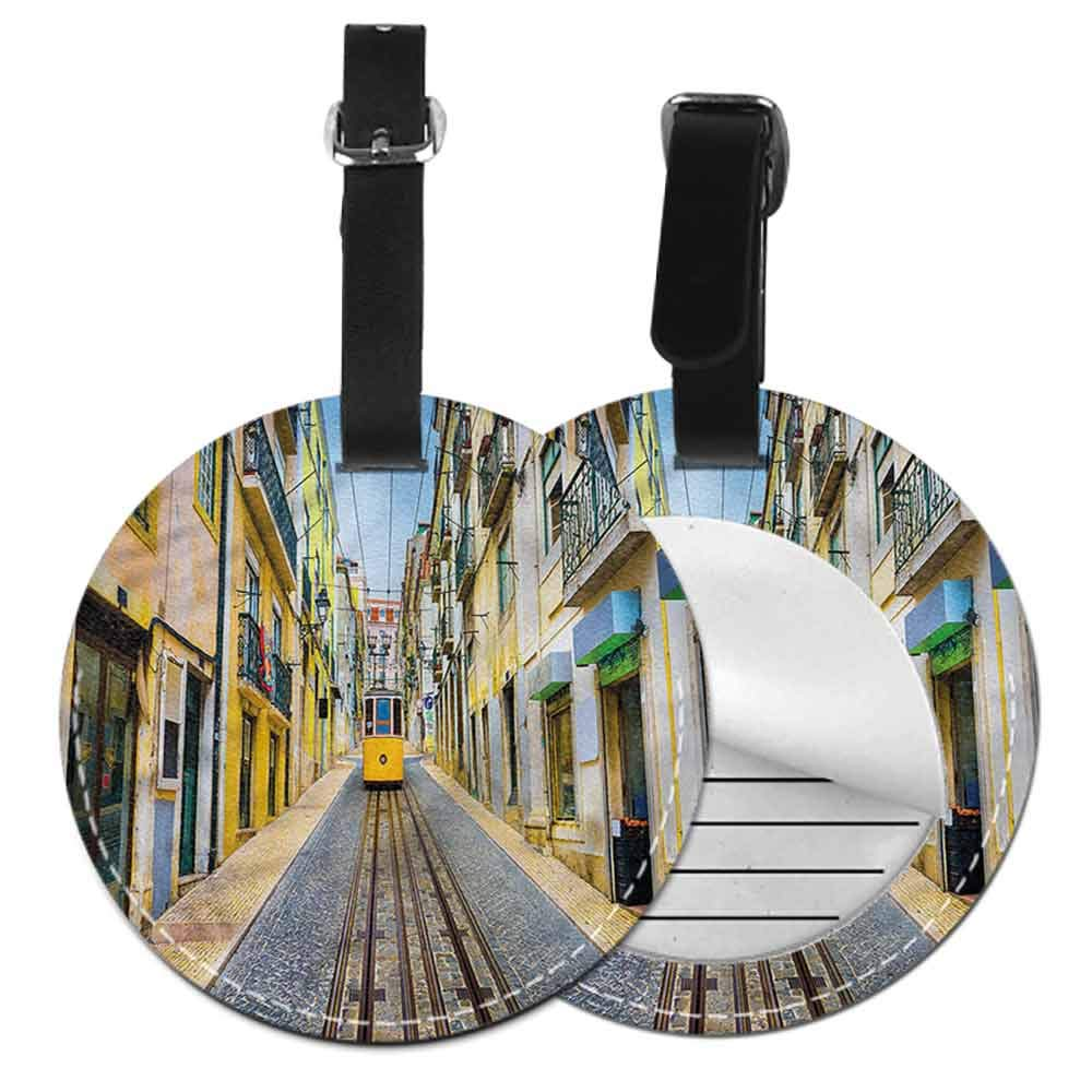 New Suitcase Luggage Tags City,Modern London Dramatic Sky Bag Pendant