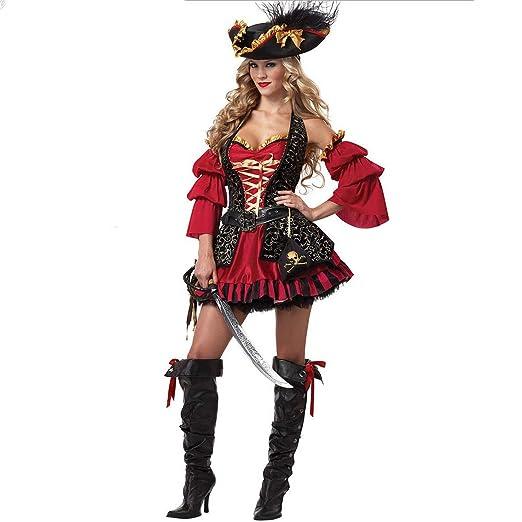 FHTD Traje De Halloween Adulto Cosplay Pirata Bruja ...