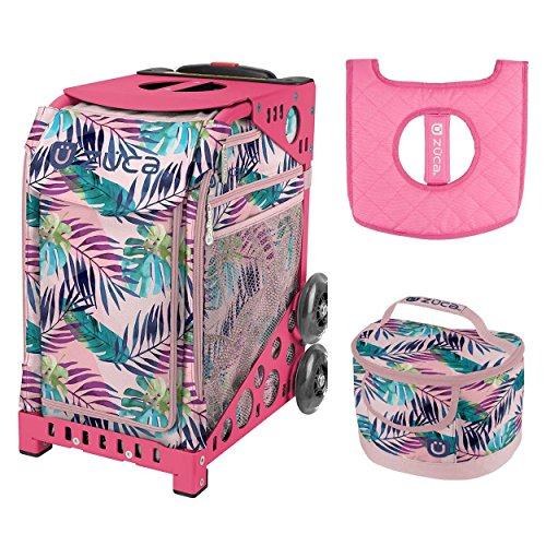 Zuca Sport Bag - Pink Oasis with Gift Lunchbox and Seat Cover (Pink Frame) by ZUCA