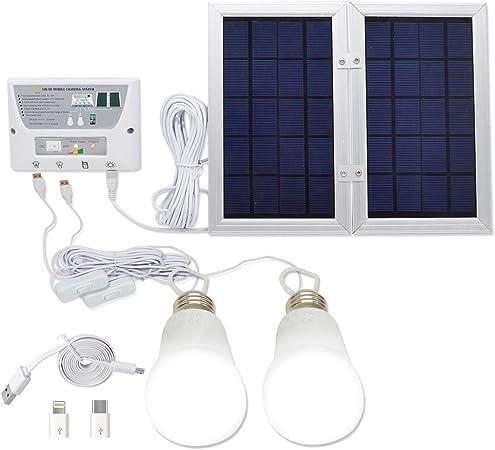 Amazon.com: YINGHAO Sistema de iluminación LED solar y ...