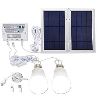 YINGHAO - Sistema de luz solar para móvil (6 W, plegable, 3,7 V, batería de litio ...
