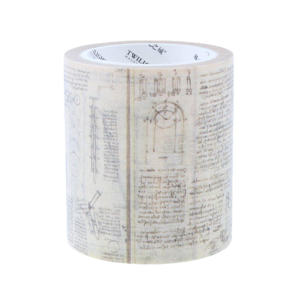 Almencla Cinta De Enmascarar De Papel Washi Decorativo Vintage para La Sala De Cuaderno De Tarjetas del Diario 3 Patrones para Elegir Ticket de 20 mm