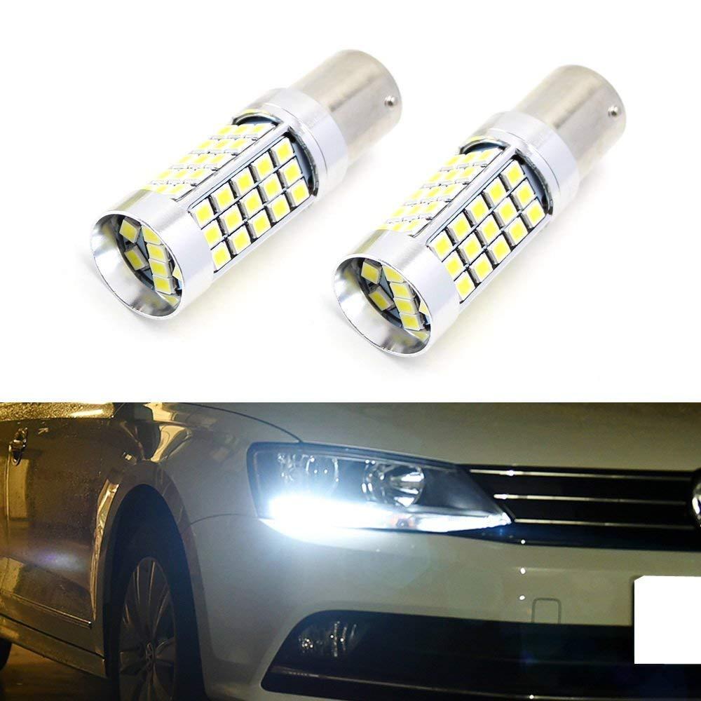 iJDMTOY For 2011-2017 Volkswagen Jetta 6000K Xenon White 68-SMD High Power LED Daytime Running Light Replacement Bulbs (For Haogen Headlamps Trim) iJDMTOY Auto Accessories Fit 6th Gen VW Jetta Halogen Headlamp