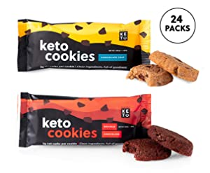 Perfect Keto Cookies - Low Carb Snacks & Sweets, No Added Sugar and Gluten-Free Cookies – Keto Food for Healthy and Keto-Friendly Diet - 24 Pack (48 Count), Variety Bundle