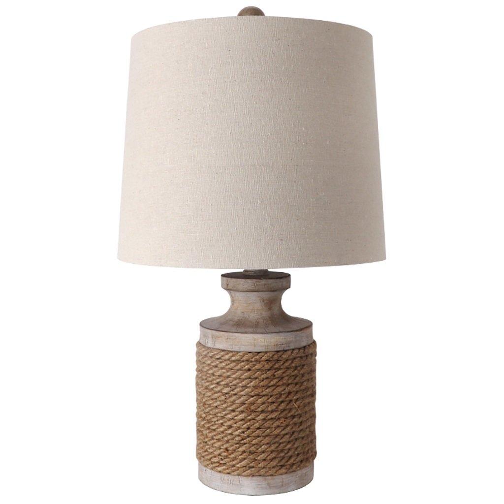 HTZ Kreative Retro Tischlampe Tischlampe Schlafzimmer Nachttischlampe Nachtlicht Seil Lichter A++