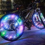 Xcellent Global LED Colorful Bicycle Bike Cycling Wheel Light Rim Spoke Light Water Resistant, 2Pack, FS033X2