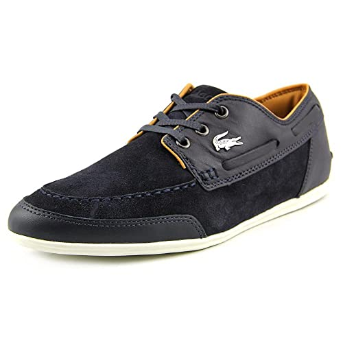921694577 Lacoste Misano Boat SRM Leather Suede Mens Dark Blue 9.5 D(M) US  Buy  Online at Low Prices in India - Amazon.in