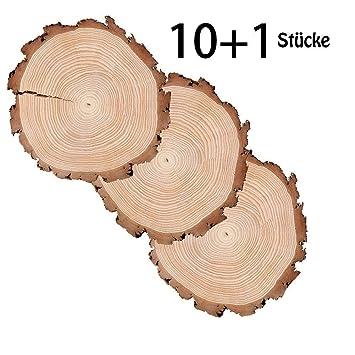 Tobeit 10 Stucke Holzscheiben 10 13cm Holz Scheiben Verzierung Diy
