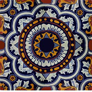 Amazon Com 6x6 4 Pcs Full Moroccan Talavera Mexican Tile