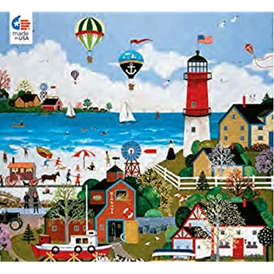 Ceaco The Cape Milford Light 300 Oversized Piece Puzzle by Jane Wooster Scott 18 X 24: Toys & Games