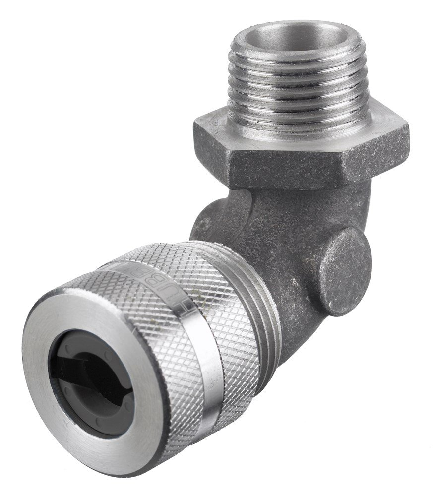 Hubbell NHC1043 Kellems Wire Management Cord Connectors, 90 Degree Male, Aluminum, 1'' Hub, 0.88-1.00'' Diameter