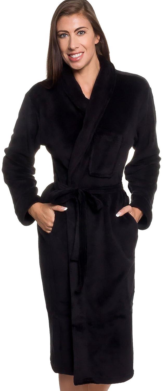 58a000302d Silver Lilly Womens Plush Wrap Kimono Loungewear Robe at Amazon Women s  Clothing store