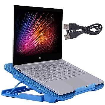 MENUDOWN Base De Refrigeración para Ordenador Portatil con Puerto USB Adecuado para Computadoras Portátiles De Menos De 15.6 Pulgadas Más Opciones De Color ...
