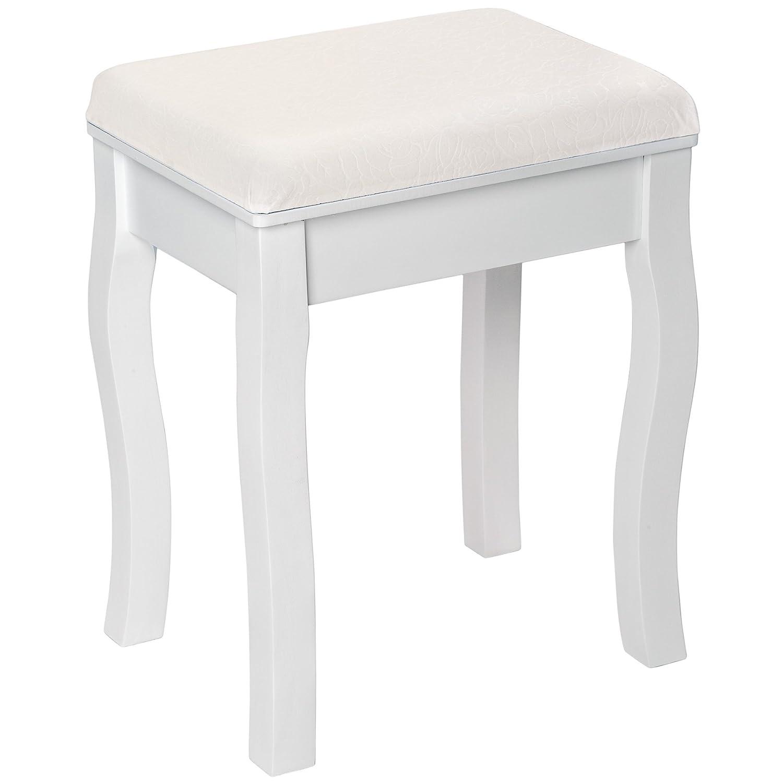 TecTake Tabouret pouf pour coiffeuse avec coussin petite chaise en ...
