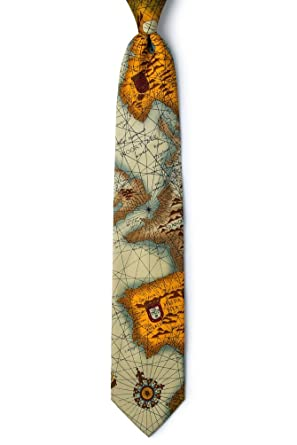 World Map Tie.World Map Tan Taupe Microfiber Tie At Amazon Men S Clothing Store