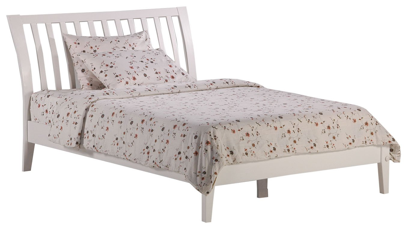 Night Day Nutmeg King Platform Bed White